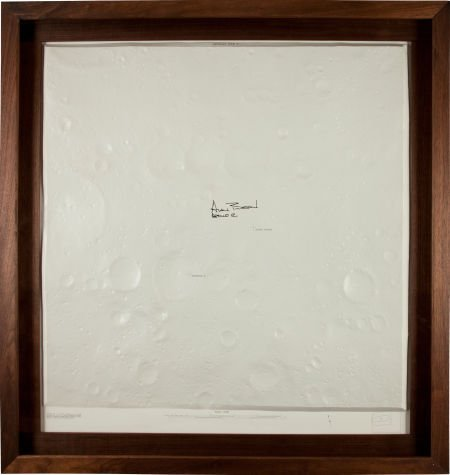 40133: Apollo 12: Large Vintage Topographical Landing S