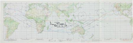 "40134: Apollo 12 ""Earth Orbit Chart (AEO)"" Signed by Mi"