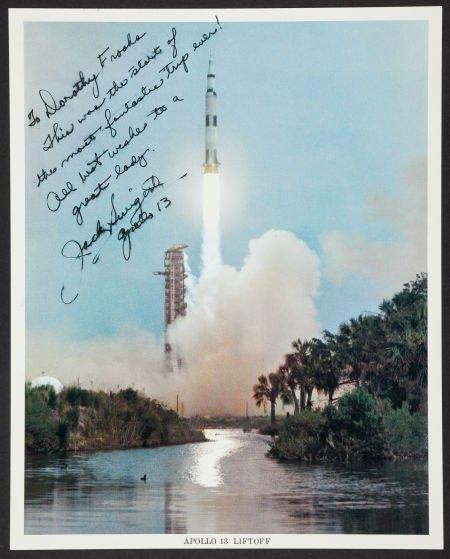 40144: Jack Swigert Signed Color Photo.