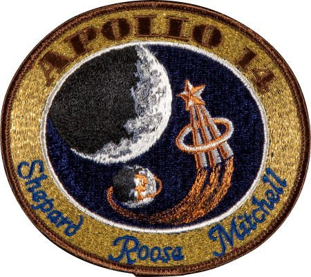 40158: Apollo 14 Flown Embroidered Mission Insignia Pat