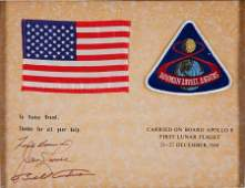 40083 Apollo 8 Flown American Flag and Mission Insigni