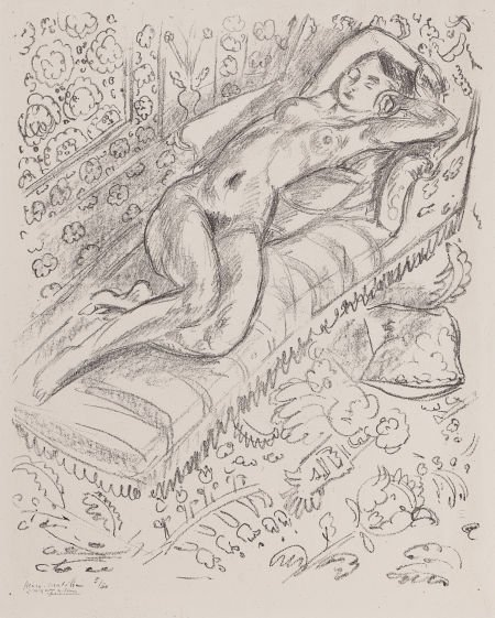 64003: HENRI MATISSE (French, 1869-1954) Nu sur chaise