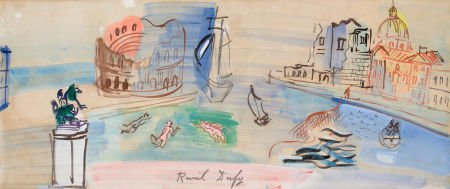 64006: RAOUL DUFY (French, 1877-1953) Venise Imaginaire
