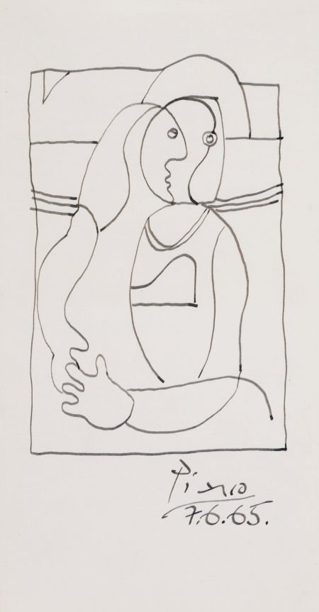 64013: PABLO PICASSO (Spanish, 1881-1973) Untitled, 196