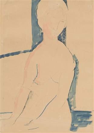 64014: AMEDEO MODIGLIANI (Italian, 1884-1920) Femme nue