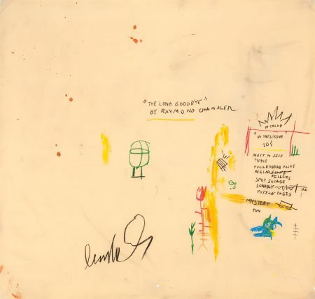 64057: JEAN-MICHEL BASQUIAT (American, 1960-1988) In Co