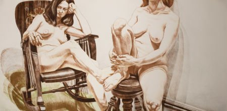 89019: PHILIP PEARLSTEIN (American, b. 1924) Two Female