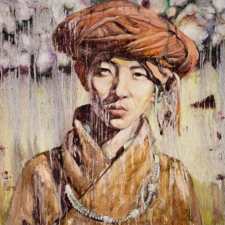 89046: HUNG LIU (Chinese, b. 1948) Chinese Portrait, 19