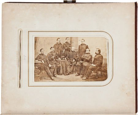 52002: Civil War Period Carte de Visite Album Containin