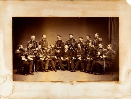 52012: C. 1875 F. Gutekunst  View Of 15 Officers The Ma