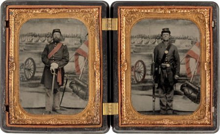 52016: Two Absolutely Exquisite Quarter Plate Tintypes