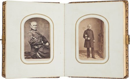 52020: Very Nice Civil War Carte de Visite Album Contai