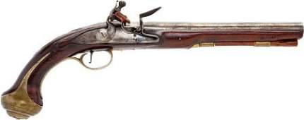 52293: Brass Mounted British Original Flintlock Officer