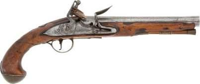52284: Circa 1770 British Flintlock Holster Pistol.