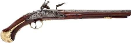 52285: Circa 1720 British Military Flintlock Holster Pi
