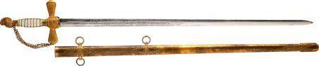 Circa 1850 U.S. Militia Staff Officer's Sword by