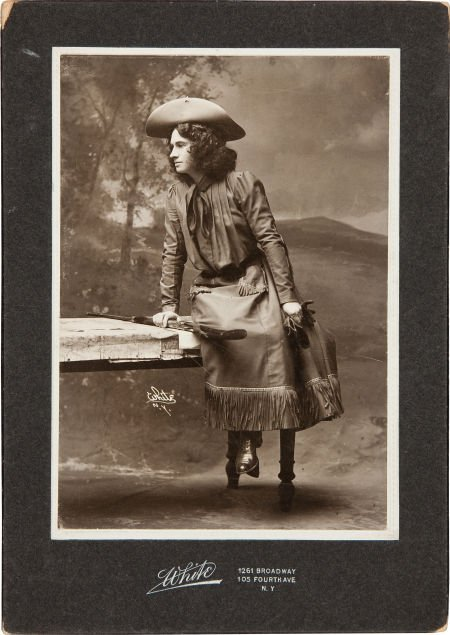 44014: Annie Oakley as The Western Girl, a Rare Cabinet