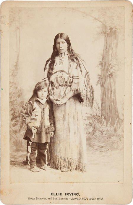 44015: Buffalo Bill's Wild West: A Scarce Cabinet Photo
