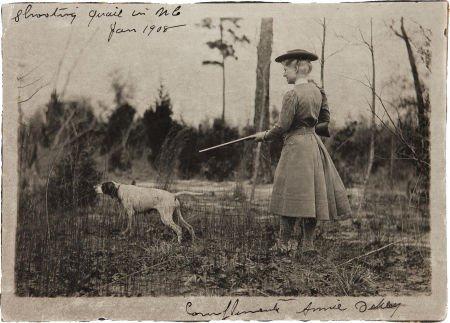 44024: Annie Oakley: Original Photo Shooting Quail in 1