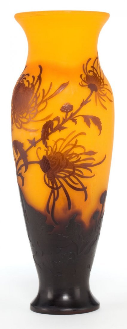 89003: A GALLÉ CAMEO GLASS VASE  Émile Gallé (French, 1