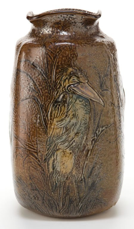 89024: A MARTIN BROTHERS STONEWARE VASE  Martin Brother