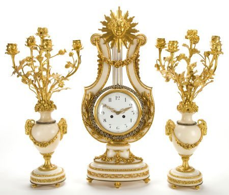 66006: A FRENCH LOUIS XVI-STYLE MARBLE AND GILT BRONZE