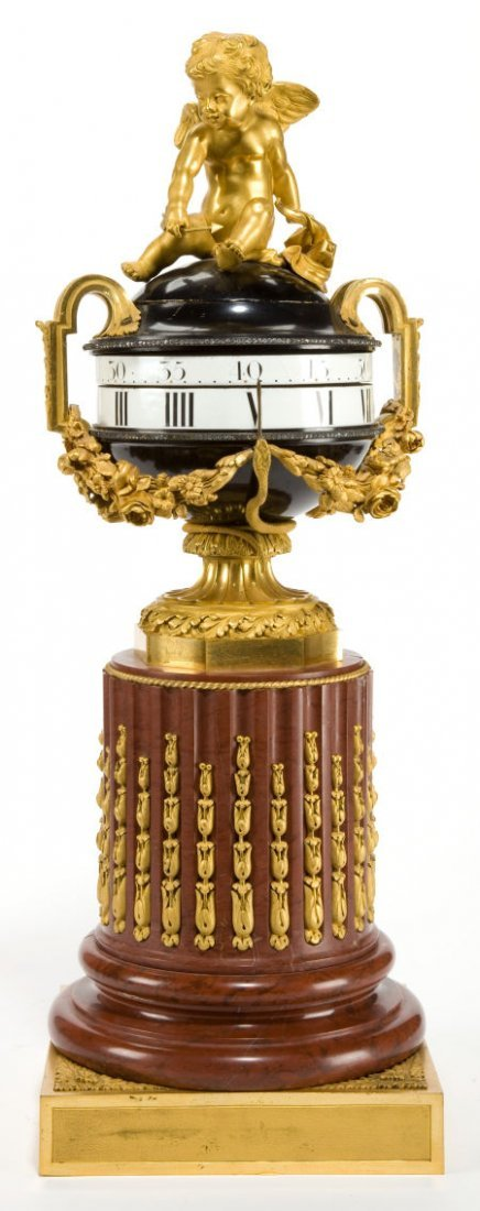 66008: A FRENCH LOUIS XVI-STYLE MARBLE,  GILT AND PATIN