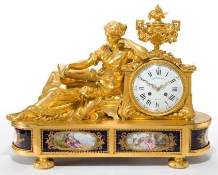 66009: A RAINGO FRÈRES FRENCH LOUIS XVI-STYLE GILT BRON