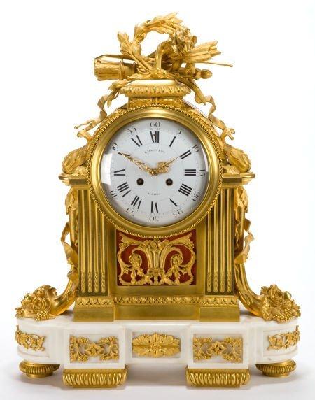 66010: A RAINGO FRÈRES FRENCH LOUIS XVI-STYLE GILT BRON