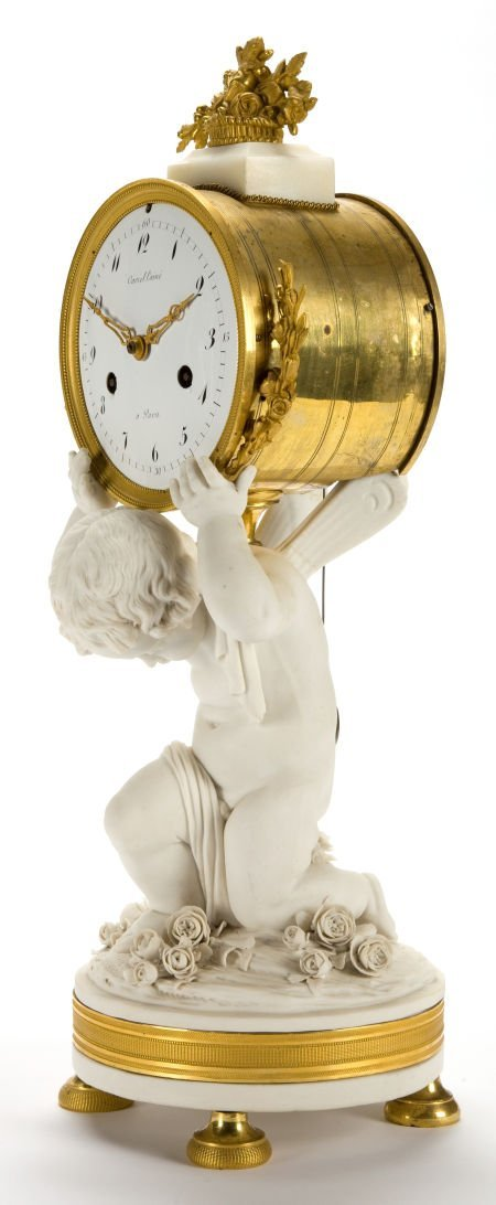 66016: A FRENCH LOUIS XVI-STYLE BISQUE PORCELAIN AND GI