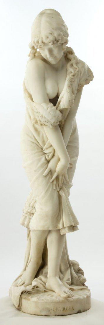 66021: A CESARE LAPINI (ITALIAN, B. 1848) MARBLE STATUE