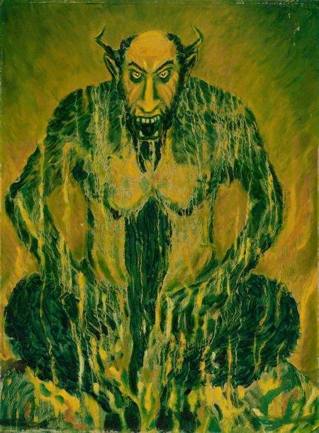 78005: ROBERT BLOCH (American, 1917-1994) Fantasy paint