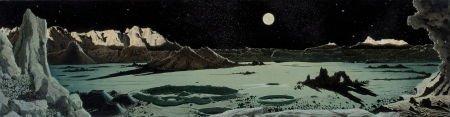 78011: CHESLEY BONESTELL (American, 1888-1986) Mural st
