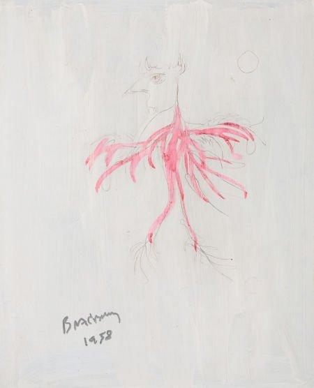 78012: RAY BRADBURY (American, b. 1920) Fantasy paintin