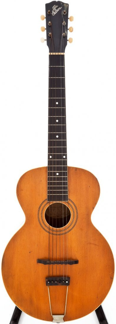 54001: 1918 Gibson L-1 Natural Archtop Acoustic Guitar,