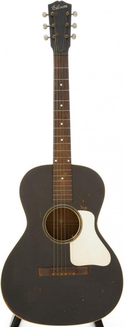 54006: Late 1930s Gibson L-0 Black Acoustic Guitar, Ser