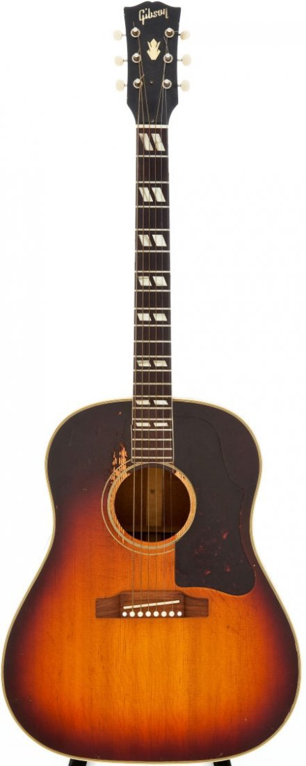 54015: 1950s Gibson SJ Sunburst Acoustic Guitar, Serial