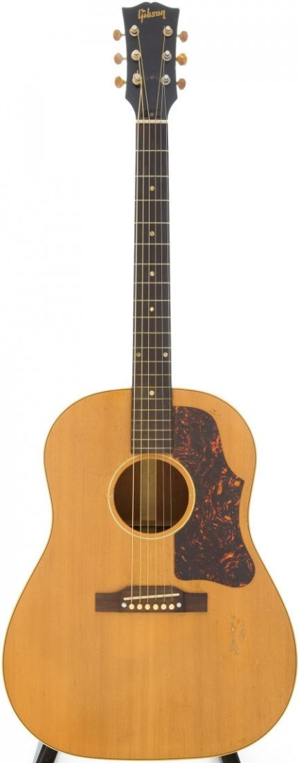 54016: 1956 Gibson J-50 Natural Acoustic Guitar, Serial