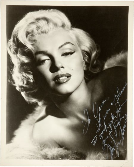 46002: A Marilyn Monroe Signed Black and White Photogra