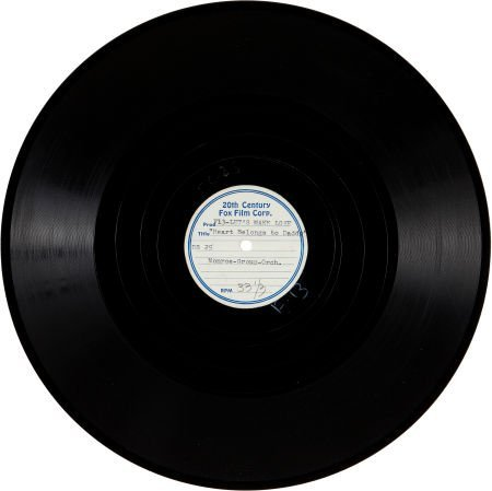 46021: A Marilyn Monroe Acetate Record of 'My Heart Bel