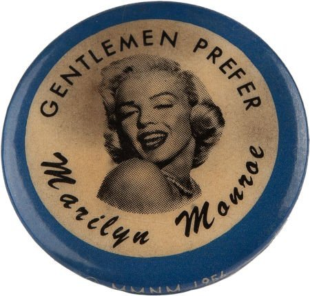 46022: A Marilyn Monroe-Related Vintage Lapel Button, 1