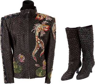 46033: An Elizabeth Taylor Fancy Jacket and Boots, 1992