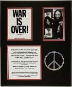 "46279: Beatles - John Lennon ""War is Over"" Postcard Dis"
