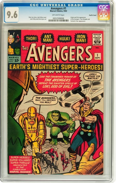 91001: The Avengers #1 Pacific Coast pedigree (Marvel,