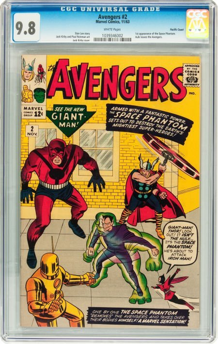 91002: The Avengers #2 Pacific Coast pedigree (Marvel,