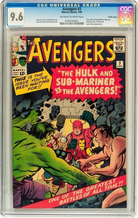 91003: The Avengers #3 Pacific Coast pedigree (Marvel,