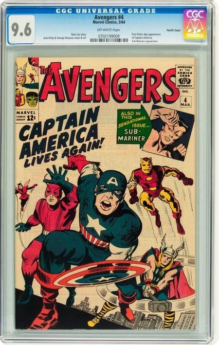 91004: The Avengers #4 Pacific Coast pedigree (Marvel,