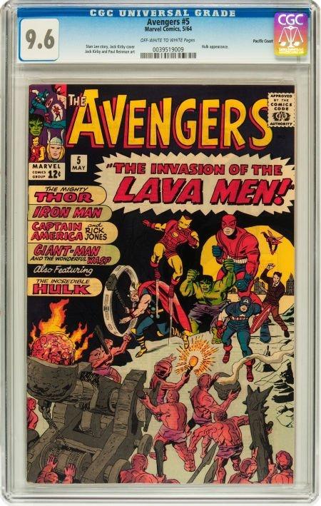 91005: The Avengers #5 Pacific Coast pedigree (Marvel,