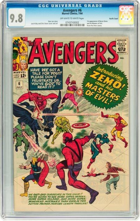 91006: The Avengers #6 Pacific Coast pedigree (Marvel,