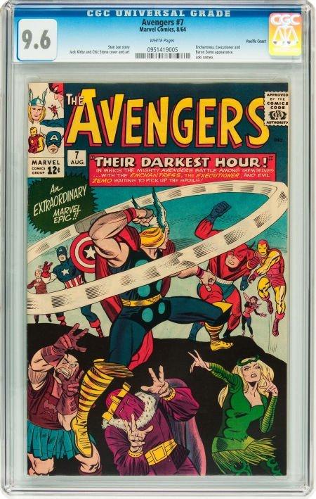 91007: The Avengers #7 Pacific Coast pedigree (Marvel,